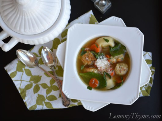Lemon, Tortellini & Meatball Soup1