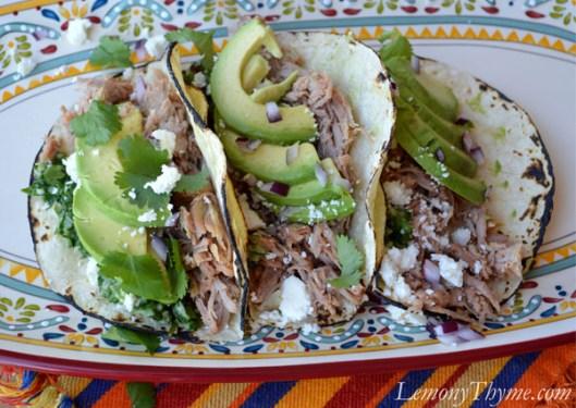 Shredded Pork Tacos with Chimichurri Sauce3