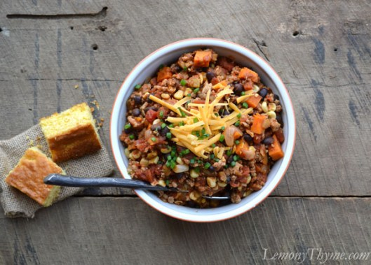 Turkey & Sweet Potato Southwest Chili