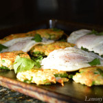 Veggie Pancakes with Fried Eggs