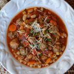 Italian Bean Soup with Mini-Meatballs