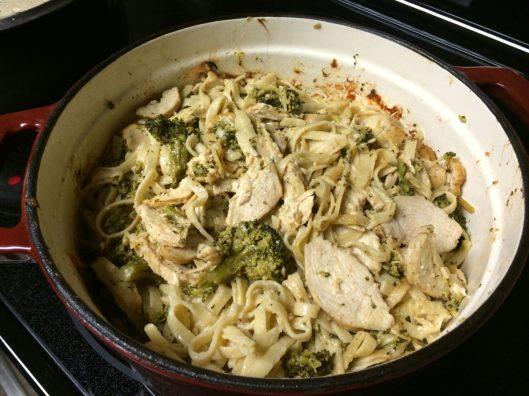 Cajun Fettuccini Alfredo with Chicken & Broccoli