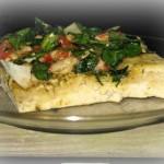 Roasted Tomato & spinach foccocia