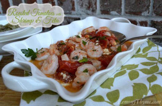 Roasted Tomatoes with Shrimp & Feta