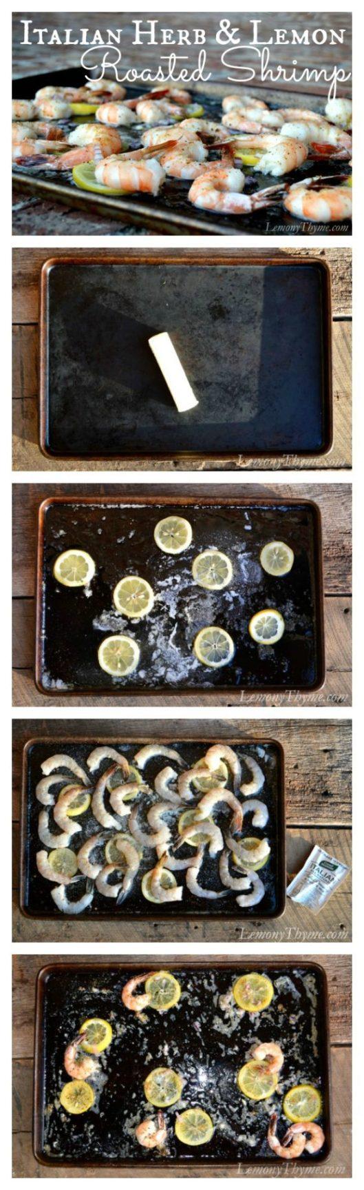 Italian Herb & Lemon Roasted Shrimp