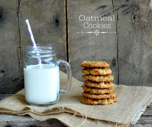 Oatmeal Cookies from Lemony Thyme1