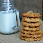 Oatmeal Cookies and milk