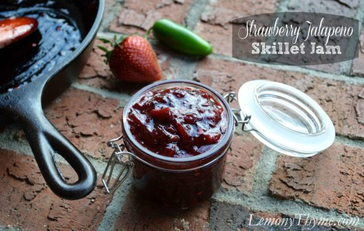 Strawberry Jalapeno Skillet Jam from Lemony Thyme