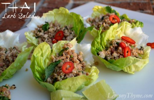 Thai Larb Salad from Lemony Thyme