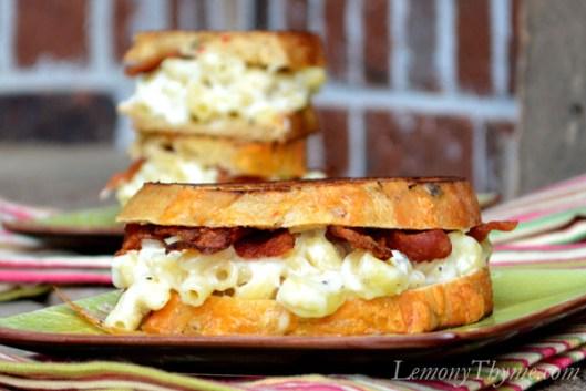 Three Cheese Mac 'n' Cheese Grilled Cheese3