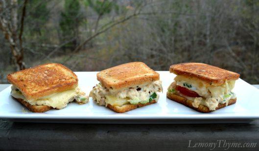 Tuna Melt Grilled Cheese Sliders