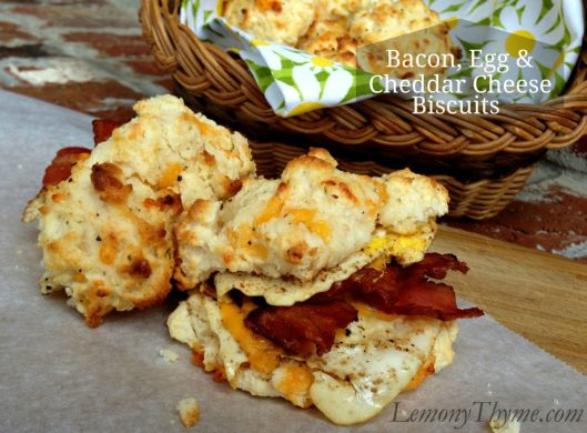 Bacon Egg & Cheddar Cheese Biscuits from Lemony Thyme