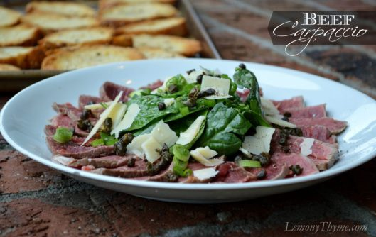 Beef Carpaccio from Lemony Thyme