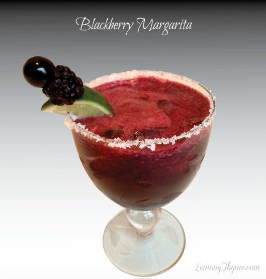 Blackberry Margarita from Lemony Thyme