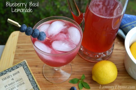 Blueberry Basil Lemonade from Lemony Thyme