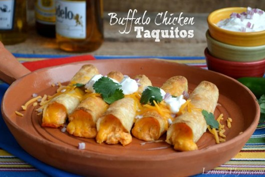Buffalo Chicken Taquitos from Lemony Thyme
