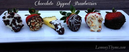 Chocolate Dipped Strawberries from Lemony Thyme