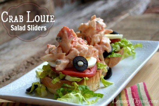 Crab Louie Salad Sliders from Lemony Thyme