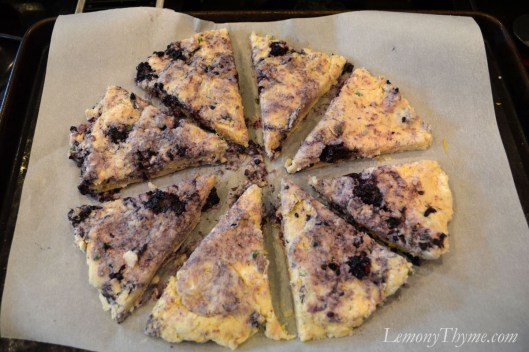 Lemony Thyme & Blackberry Scones6