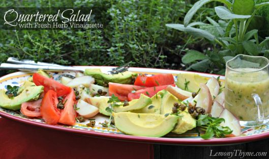 Quartered Salad with Herb Vinaigrette from Lemony Thyme