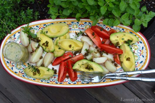 Quartered Salad with Herb Vinaigrette