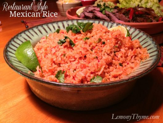 Restaurant Style Mexican Rice from Lemony Thyme