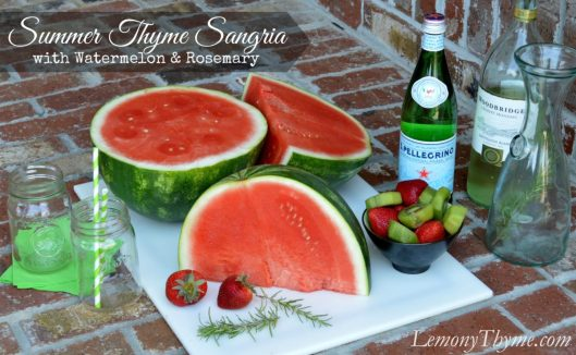 Summer Thyme Sangria from Lemony Thyme