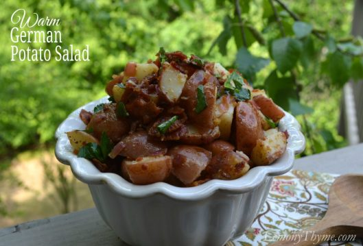 Warm German Potato Salad from Lemony Salad1