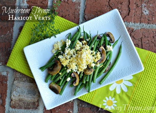 Mushroom Thyme Haricot Verts from Lemony Thyme1