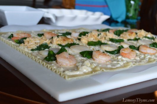 Seafood Lasagna Roll Ups Assembly2