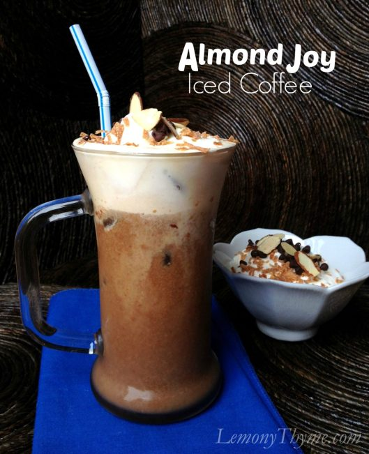 Almond Joy Iced Coffee from Lemony Thyme