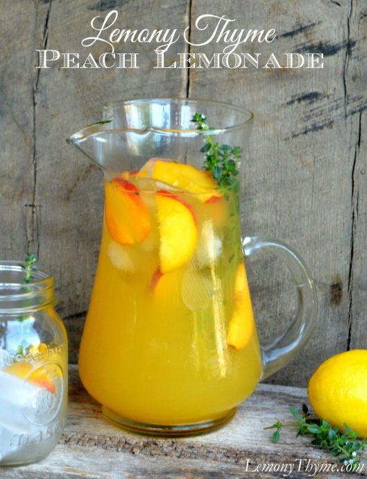 Lemony Thyme Peach Lemonade from Lemony Thyme