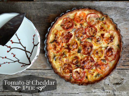 Tomato & Cheddar Pie from Lemony Thyme