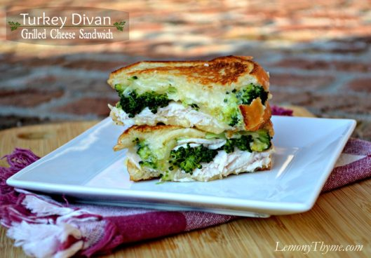 Turkey Divan Grilled Cheese Sandwich from Lemony Thyme