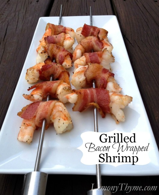 Grilled Bacon Wrapped Shrimp
