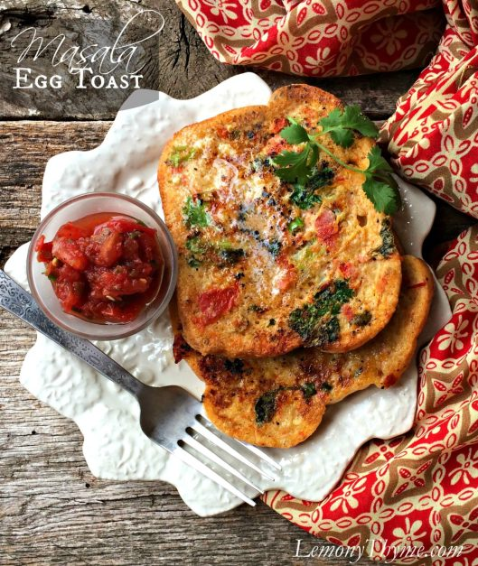 Masala Egg Toast from Lemony Thyme