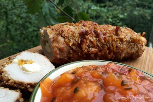 Pretzel Crusted Pork Tenderloin {Stuffed with Jalapeño Peach Cream Cheese}7