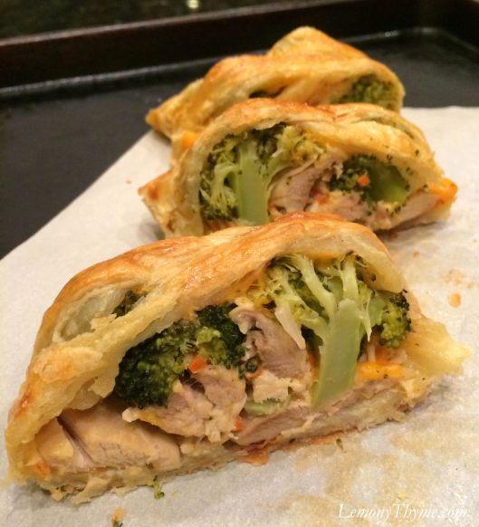 Cheesy Chicken & Broccoli Stromboli5