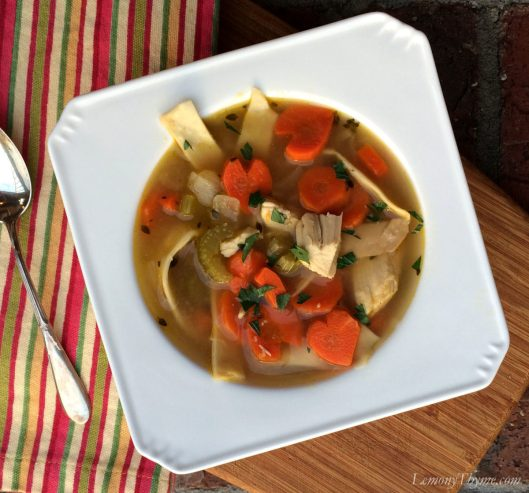 Chicken Noodle Soup with Homemade Egg Noodles1