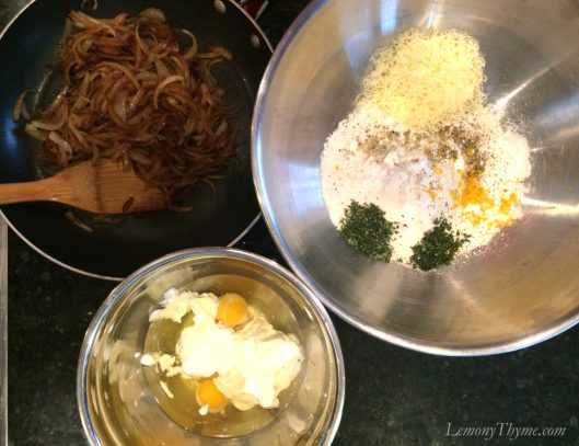 Parmesan & Herb Quick Bread with Caramelized Onions Ingredients