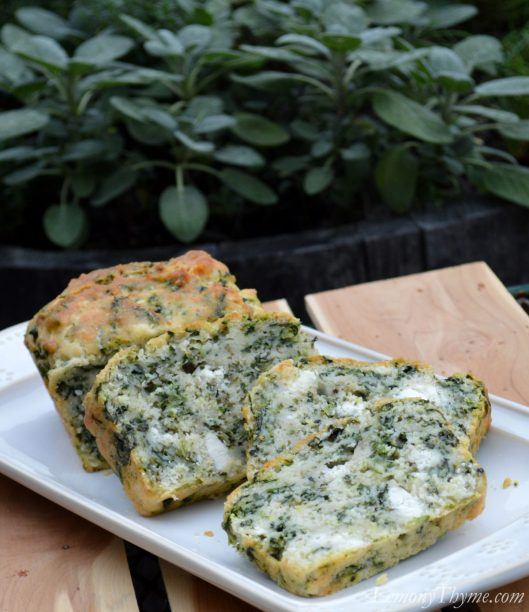 Spinach & Goat Cheese Quick Bread1