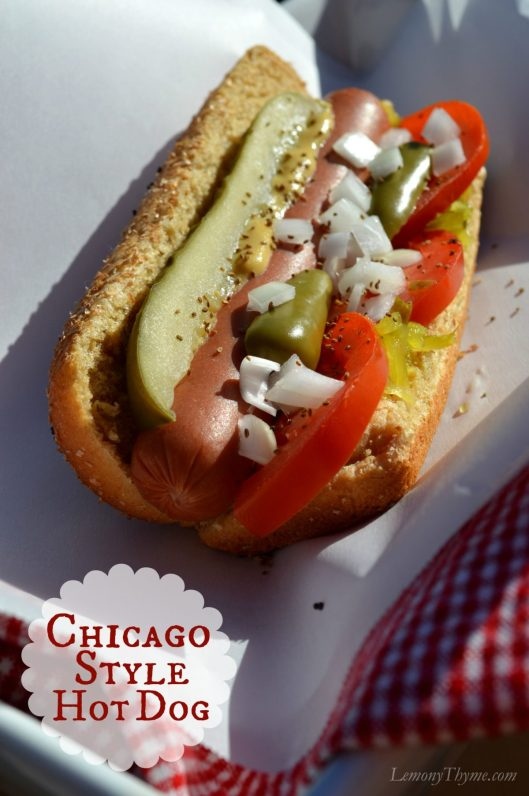 how to make a chicago style hot dog