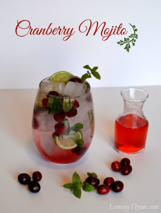 Cranberry Mojito from Lemony Thyme