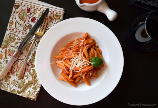Penne with Vodka Sauce3