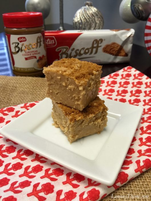 European Cookie Butter Fudge1 | LemonyThyme.com | #biscoff #fudgerecipe