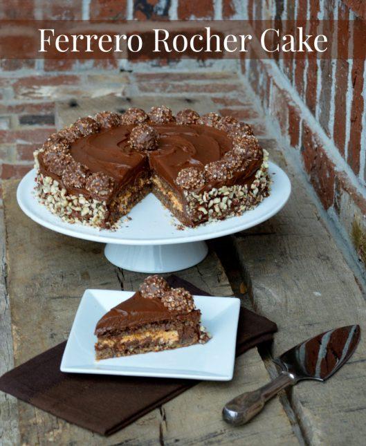 Ferrero Rocher Cake | LemonyThyme.com | #adventuresinchocolate