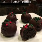 Peppermint Mocha Latte Truffles | LemonyThyme.com | #holiday #baking