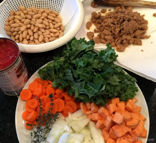 Sausage & Thyme Cassoulet Ingredients