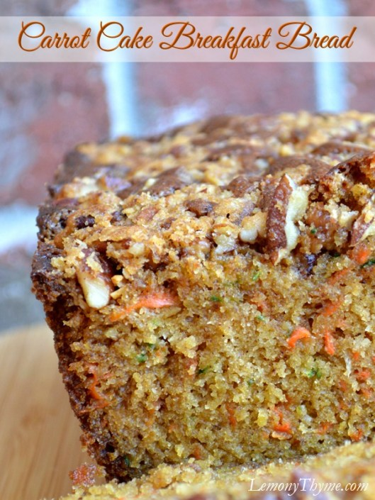 Carrot Cake Breakfast Bread from LemonyThyme.com