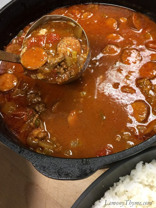 Chili Gumbo for a crowd